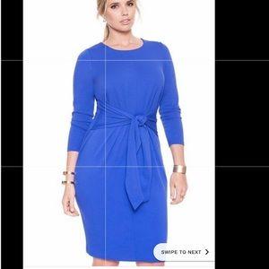 NWT ELOQUII Tie Waist Knit Sheath Dress